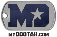 Design and order your own custom dog tags with the online dog tag generator!