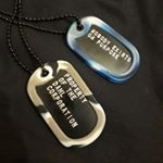 Black Dog Tags with Steel letters (Instagram)