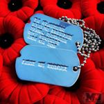 Remembrance Day Dog Tags (Instagram)
