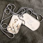 Honor The Fallen Dog Tag with Engraved Photo of WWII Soldier (Instagram)