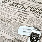 D-Day 75th Anniversary Dog Tags Operation Overlord on Historical Newspaper (Instagram)