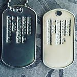 USA Military Style Dog Tags (Instagram)