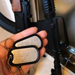 USMC Dog Tags with rifles in Background (Instagram)