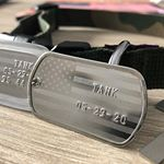 USA Flag Dog Tag with dog's name (Instagram)