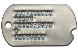 Photo of Replica Army Dog Tags