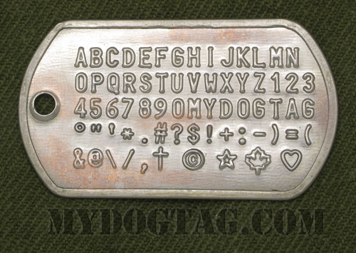 Military Dog Tags Generator Customized Id Dogtags For