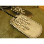 Rusty Steel Dog Tag debossed