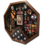 Military Shadowbox of Romaine Fortier