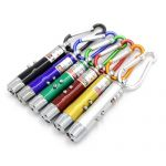 3-in-1 Laser Pointer / UV / LED Keychain all colorsyellow
