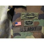 American Flag Lapel Pin on Army BDU Jacket