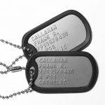 US Army Dog Tags with Silencers