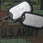 US Army Dog Tags with Army Nametape