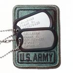 US Army Dog Tags with Army Patch