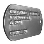 US Army Vietnam 67-68 Dog Tag Closeup