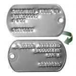 US Army Vietnam 67-68 Dog Tags Reverse Side