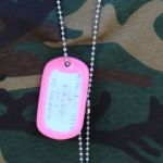 Mil-Spec Shiny Dog Tag set with pink silencers