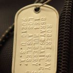 Mil-Spec Matte Dog Tag as Baggage ID