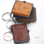 Mini Bible Keychain with dimensions