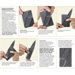 Card Knife folding instructions