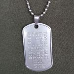 Pinch Bail Clasp connecting dogtag to ballchain necklace