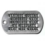Mil-Spec Matte Dog Tag with darkened debossed letters