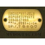 Brass Flushmount Tag embossed with all available characters