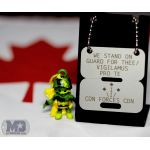 Canadian Forces ID Disc on a dogtag display