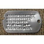 Notched Dog Tag with Debossed letters