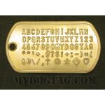 Brass Dog Tag embossed with all available characters
