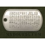 Mil-Spec Matte Dog Tag with all characters