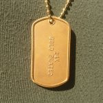 Mil-Spec Matte Dog Tag with optional 24K Gold Plating