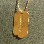 Notched Dog Tag with optional 24K Gold Plating
