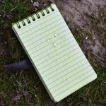 Waterproof Tactical Notebook with water droplets