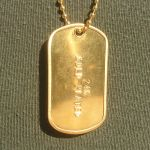 Mil-Spec Shiny Dog Tag with optional 24K Gold Plating