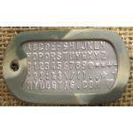 Army Camo Dog Tag Silencer on Mil-Spec matte dogtag