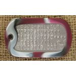 Crimson Camo Dog Tag Silencer on Mil-Spec matte dogtag