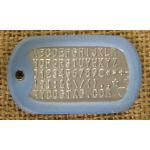 Blue Glow-in-the-Dark Dog Tag Silencer on Mil-Spec matte dogtag