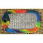 Rainbow Dog Tag Silencer on Mil-Spec matte dogtag