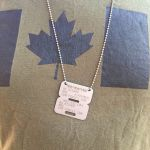 Canadian Forces ID Disc on Canadian flag TShirt