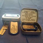 Mini Hinged Tin Box Engraved with Witch Doctor 128th AHC
