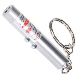 2-in-1 mini Laser Pointer / LED Keychain