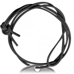 Black Long Rounded Leather Cord