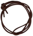 Brown Long Rounded Leather Cord