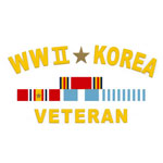 WWII & Korea Veteran Decal