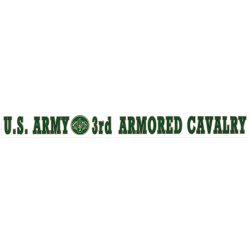 U.S. Army 3rd Armoured Decal