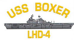 USS Boxer LHD-4 Decal