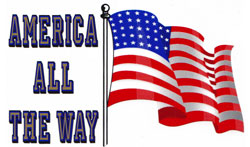 America All The Way Decal
