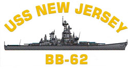 USS New Jersey BB-62 Decal