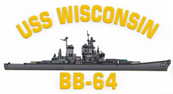 USS Wisconsin BB-64 Decal