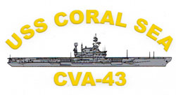 USS Coral Sea CVA-43 Decal